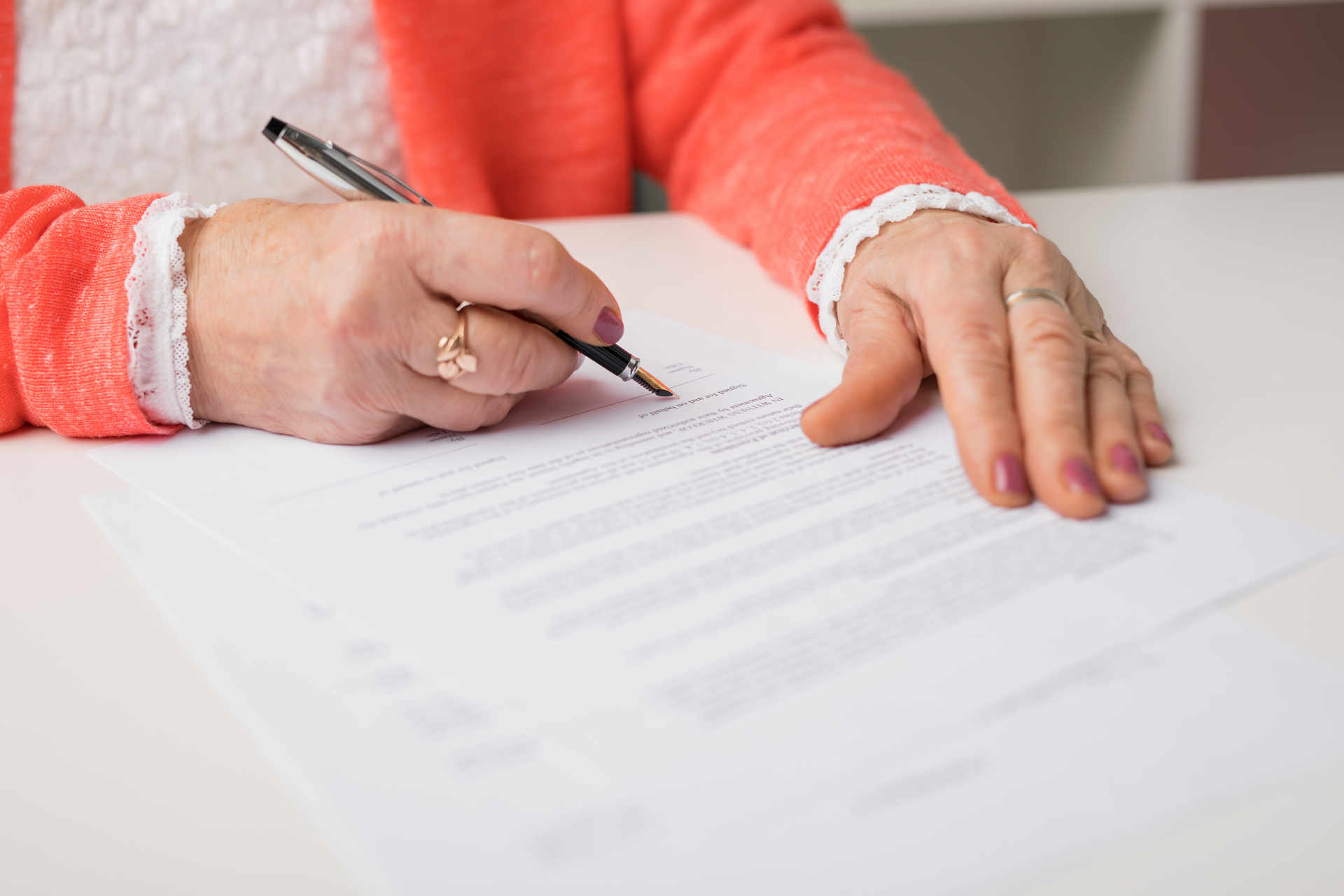 mother signing power of attorney