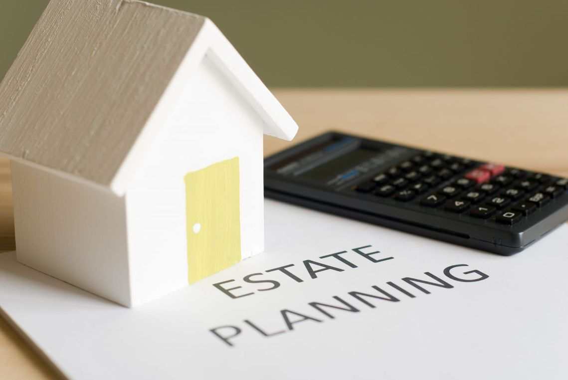 model home and calculator on estate planning page