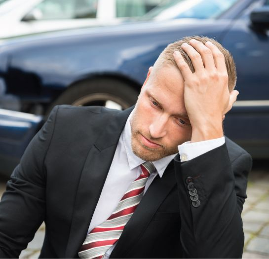 man worry about legal problems